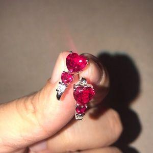 Jewelry - Starling silver ruby earrings